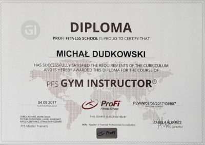 ProFi Gym Instructor Michał Dudkowski