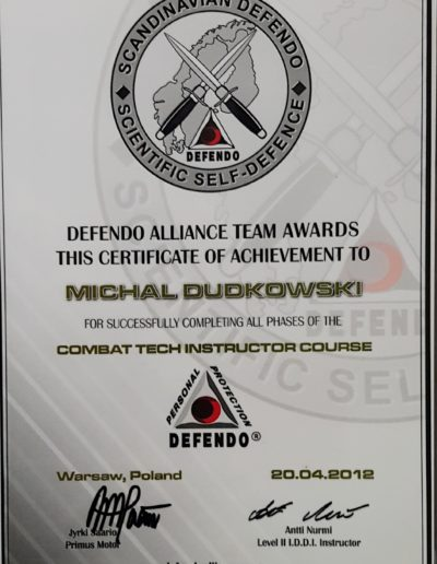 Instructor Defendo Combat Tech Michał Dudkowski