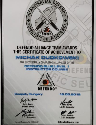 Instructor Defendo Blue Michał Dudkowski