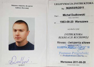 Instruktor fitness - ćwiczenia siłowe Michał Dudkowski