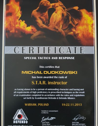 Instructor Defendo STAR Michał Dudkowski